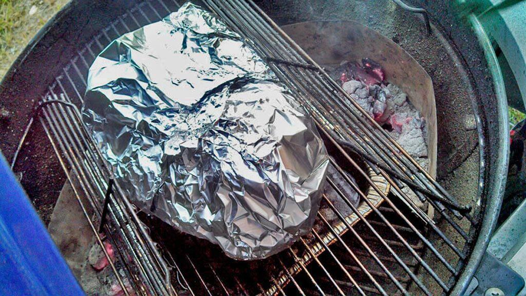"""The Mountain Kitchen Beef Brisket   The goal to a well cooked beef brisket is a thick moist slab of meat, with a crusty """"bark"""", a vivid smoke ring, and meat so smoky, you nearly gorge yourself into a food comma."""