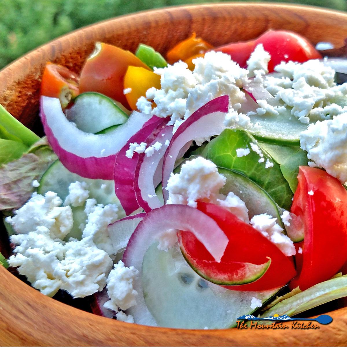 Greek Salad {A Meatless Monday Recipe