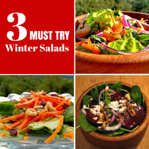 3 MUST TRY Winter Salads {Meatless Monday Recipes