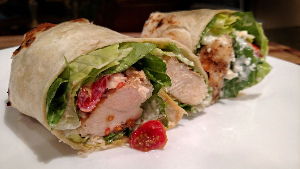 A Chicken Caesar Wrap