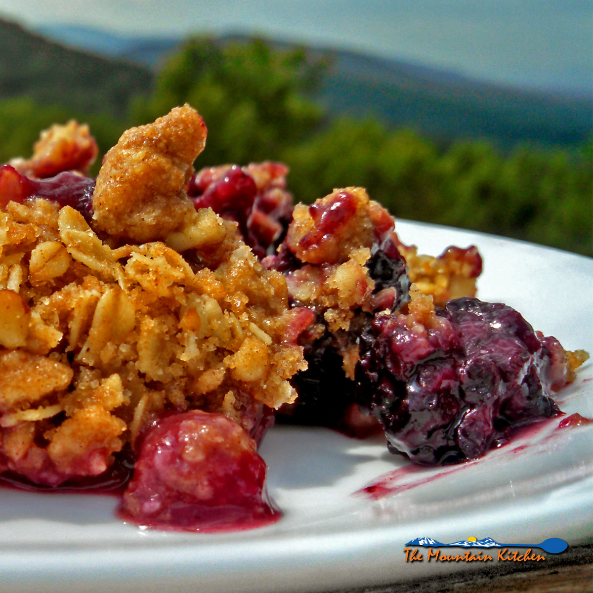 David's blackberry crisp is tart and tangy, topped with rolled oats, brown sugar, pecans, with the warmth of cinnamon, nutmeg and ginger. A summer favorite!