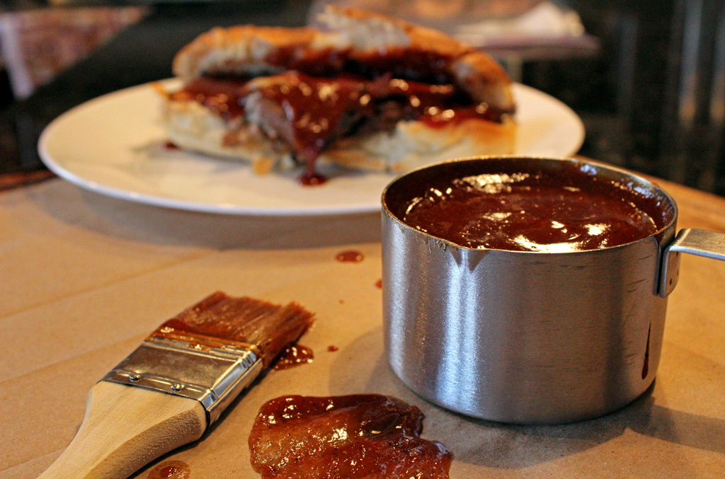 This classic barbecue sauce well balanced sauce is rich and smooth, with sweet, heat and just a touch of smoky flavor and goes well anything you pour it on. | TheMountainKitchen.com