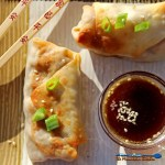 These baked vegetable egg rolls are baked, not fried and loaded with fresh vegetables, seasoned with ginger, garlic and soy sauce, with a tasty honey sesame dipping sauce. | TheMountainKitchen.com
