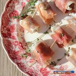 Prosciutto Wrapped Goat Cheese Stuffed Dates: Medjool dates stuffed with creamy goat cheese, pecans and fresh thyme, then wrapped in salty prosciutto. | TheMountainKitchen.com