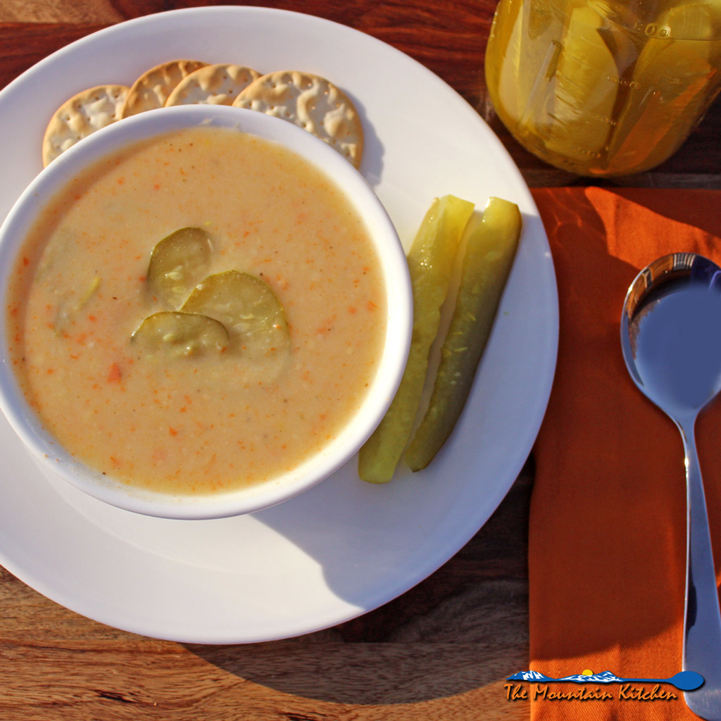 Dill Pickle Soup {A Meatless Monday Recipe
