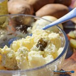 This crowd pleasing potato salad features bite-sized potatoes and chopped sweet pickles and onion mixed with a creamy, tangy dressing, with a zippy finish. | TheMountainKitchen.com