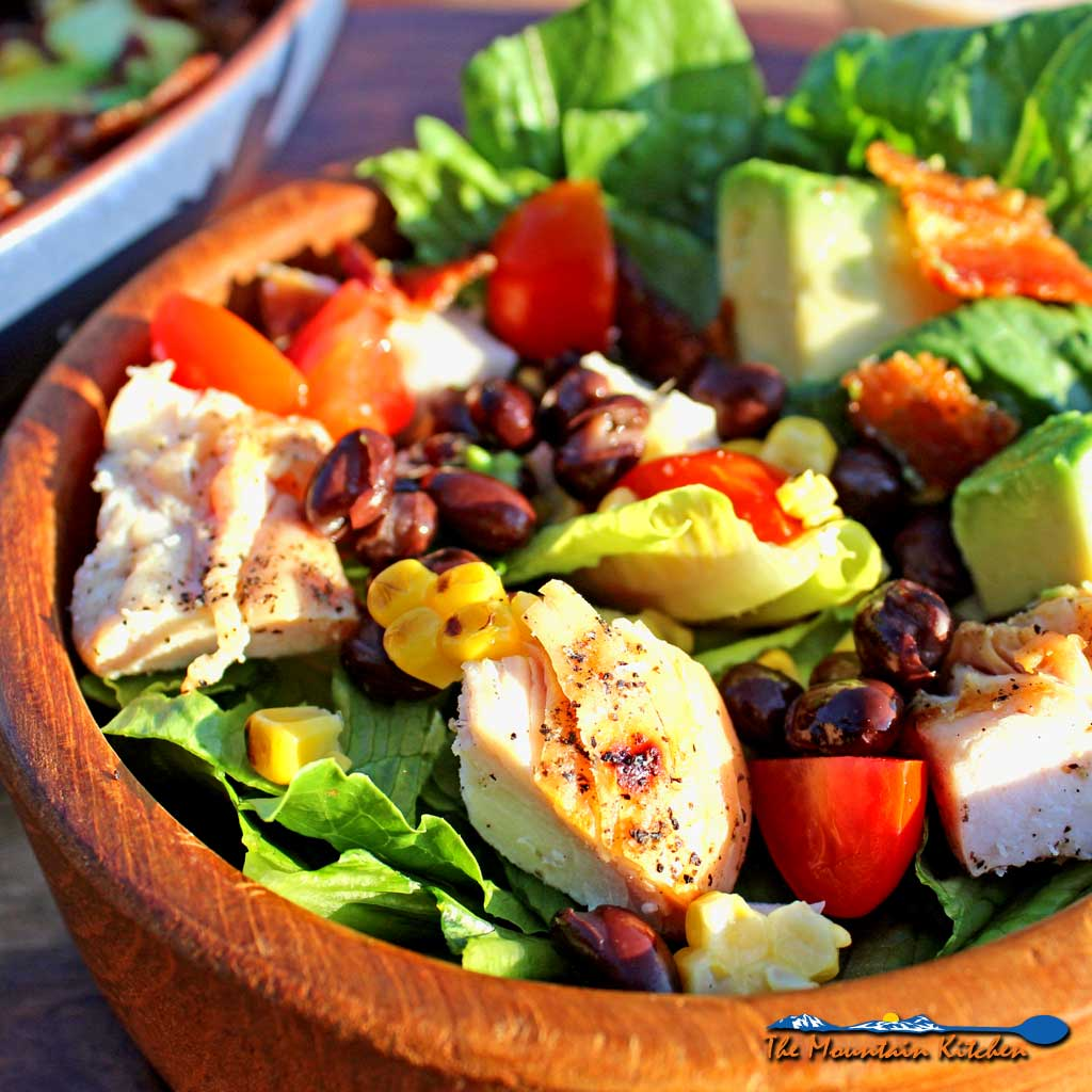 Grilled Chicken Southwest Salad With BBQ Ranch Dressing