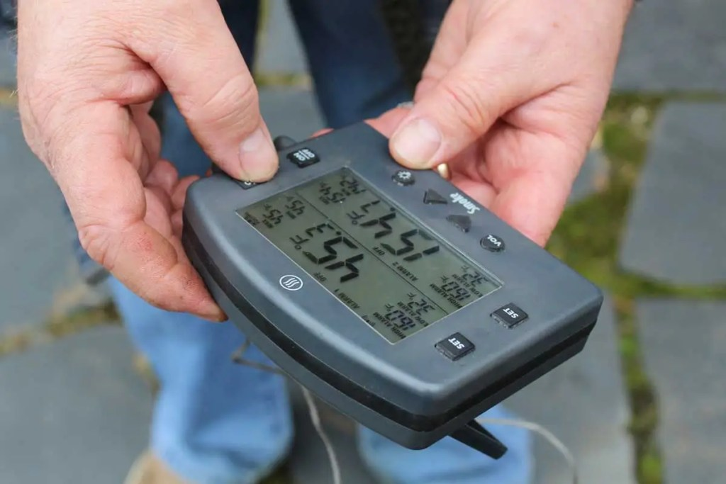 setting the Thermoworks thermometer