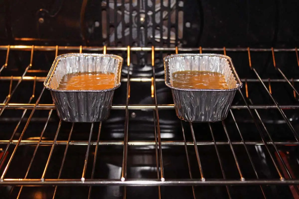 pans baking in the oven