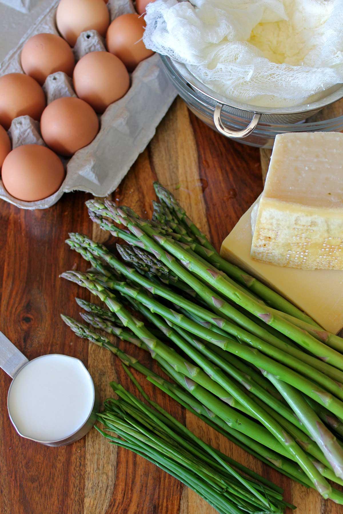ingredients to make quiche