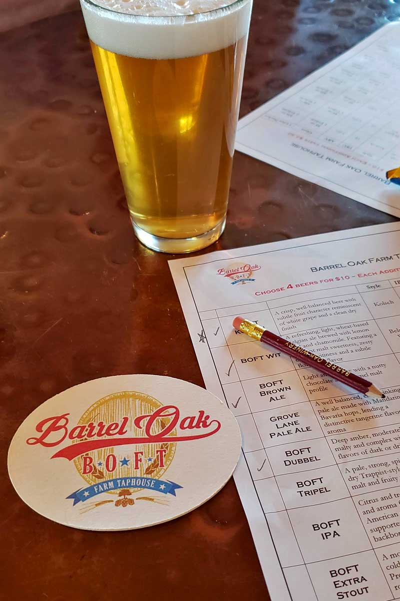 beer with tasting sheet