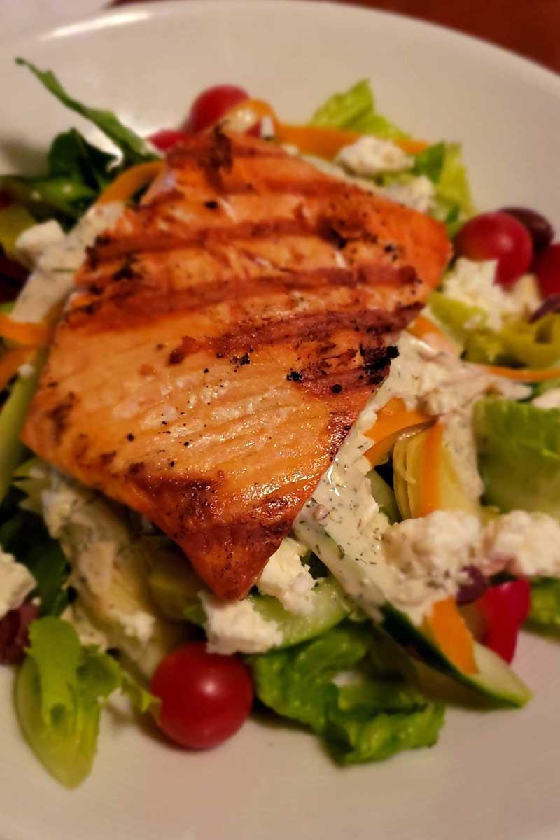 Greek Salmon Salad from Griffin Tavern
