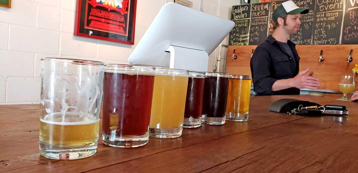 Pen Druid bar with beer flight