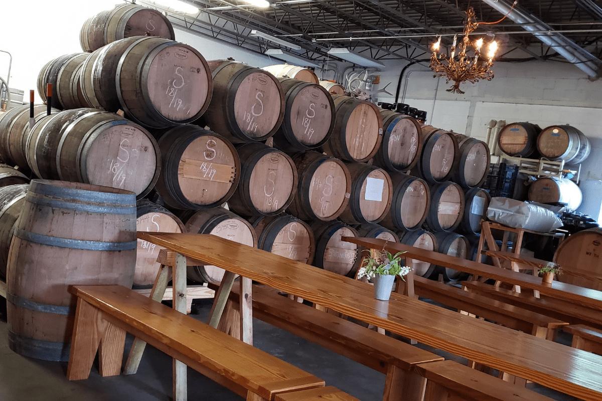 barrels inside Pen Druid