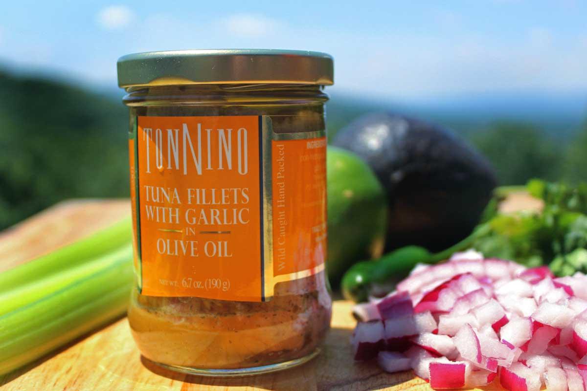 Tonnino garlic tuna fillets