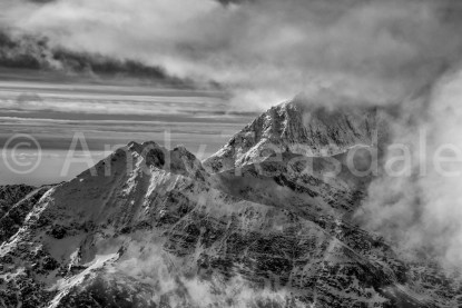 Crib Goch and Snowdon from Y Glyderau