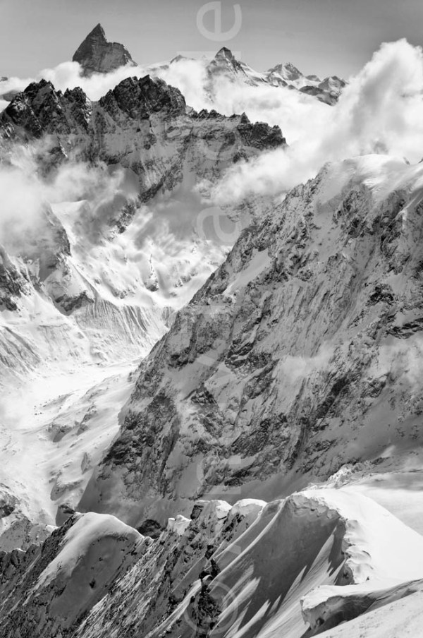 The Valais Alps from the Pigne d'Arolla