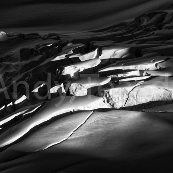 Crevasses in morning light