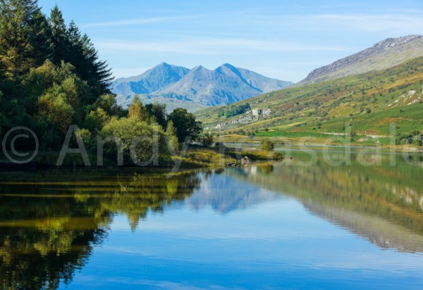 Llynnau Mymbyr and the Snowdon massif