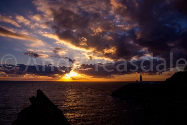 South Stack from Red Walls promontory at sunset