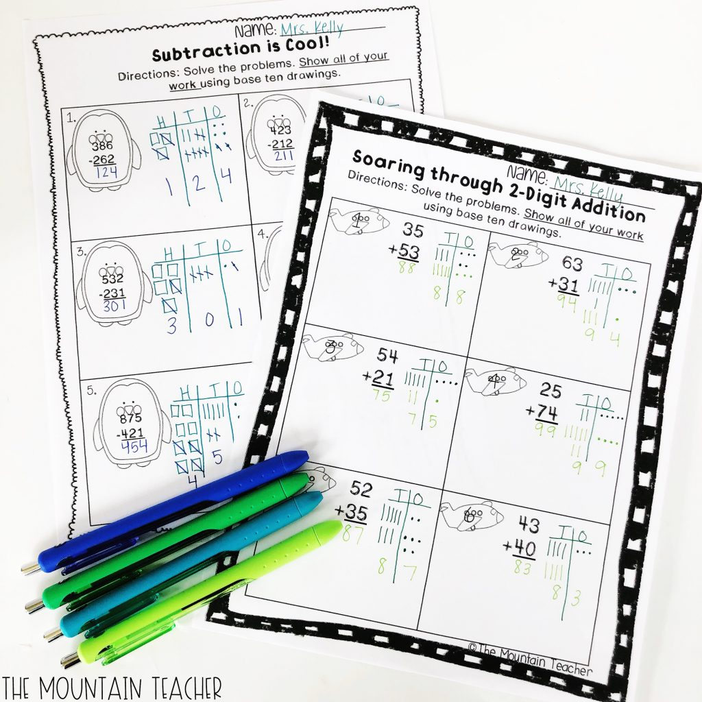 Addition And Subtraction To The Mountain Teacher