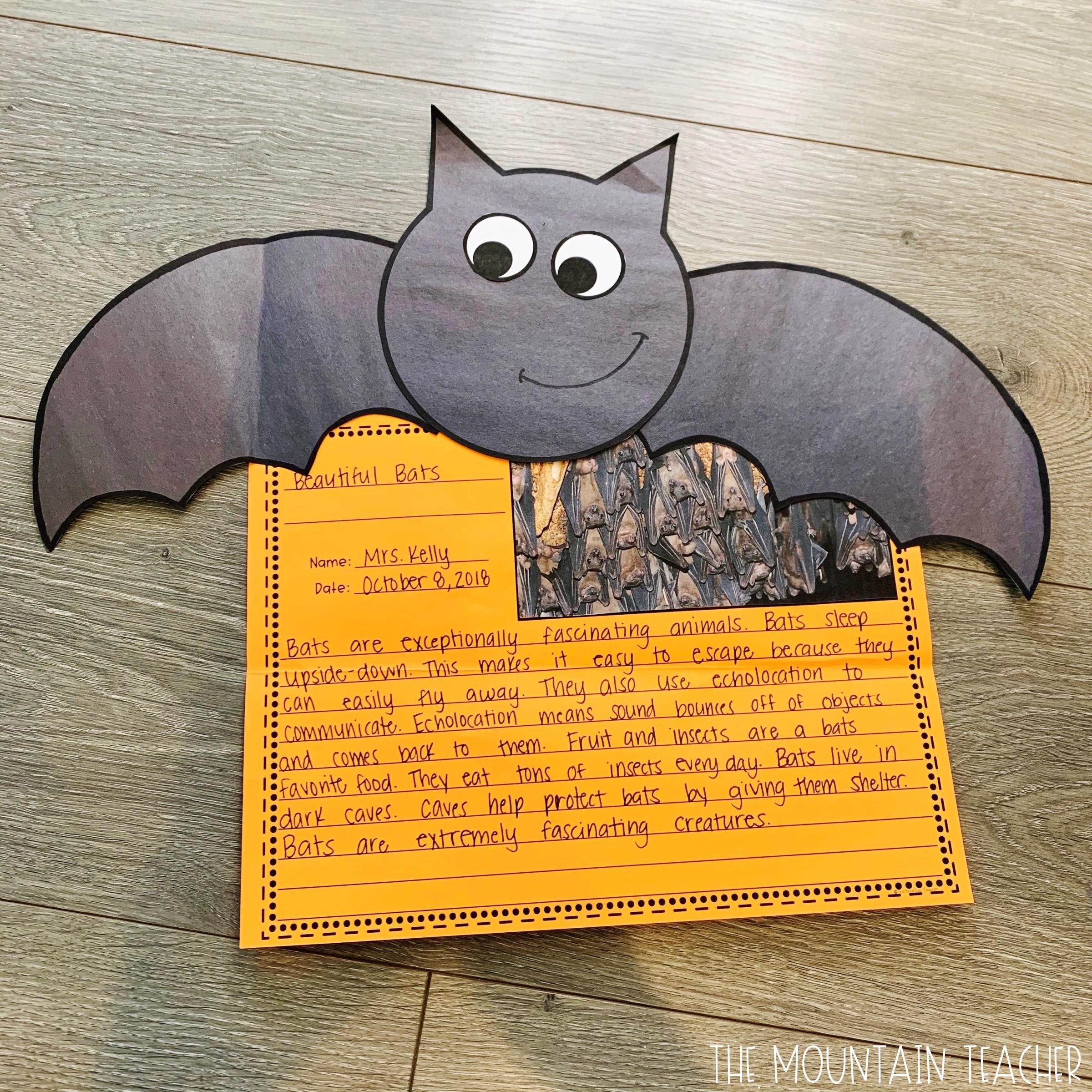 October Bat Writing Craft for Bat Week