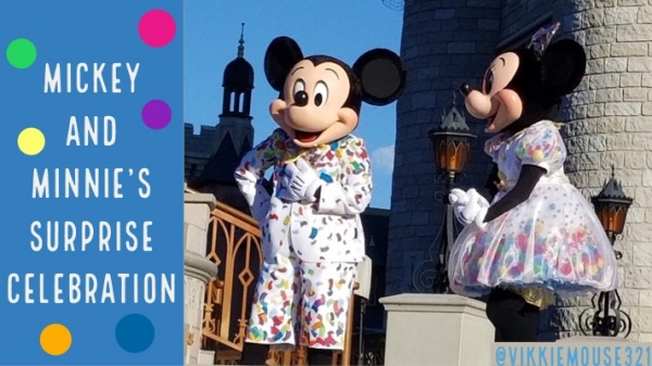 Mickey And Minnie S Surprise Celebration Debuts At Magic Kingdom The Mouse For Less Blog