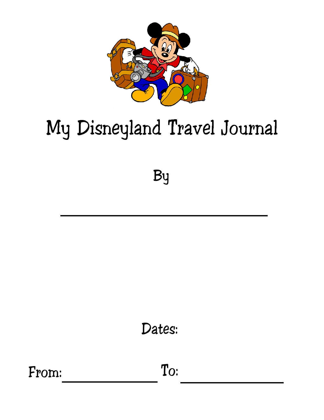 Disney Travel Journal Kids Version Make It Fun To Save Their Memories