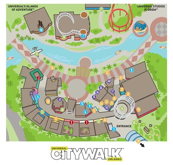 Universal Orlando Map 2021