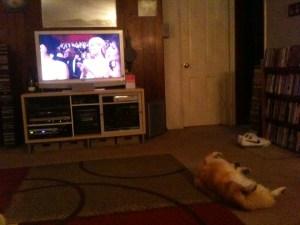 Dr. Marvin enjoying The Oscars