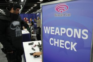 Weapons Check at Wonder-Con
