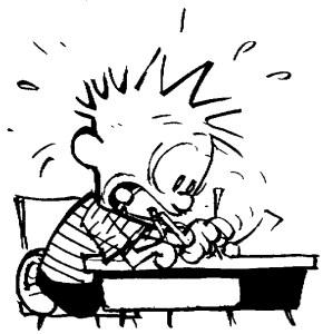 Calvin - mad writing