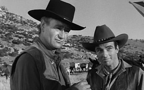 Image result for john wayne and montgomery clift in red river