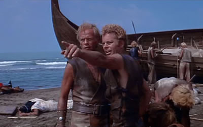 Richard Widmark And Russ Tamblyn In The Long Ships 1964