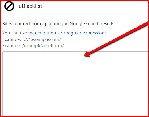 how to block websites on chrome using ublacklist