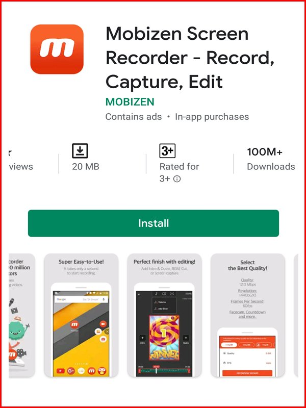 Mobizen android screen recording apps