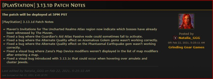 Path of exile update 3.13.1D, 1.75