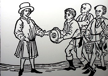 "Mediaeval farmers, paying the ""Urbar"""