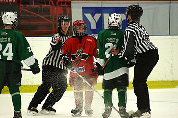 English: Image taken during a youth hockey tou...