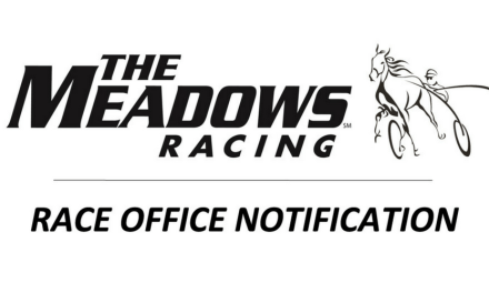 NOTICE: 1PM/12-race Paddock Schedule