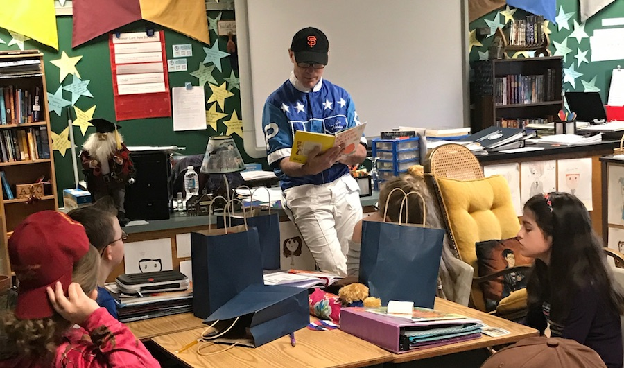 Meadows drivers visit area classroom