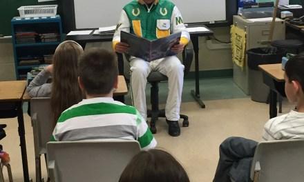 Wilder, Kahrig visit local elementary school