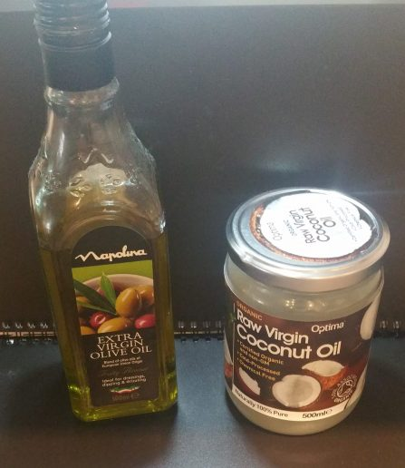 olive oil & Coconut oil - natural anti-dandruff hair oil