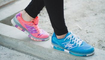 trainers on a beam