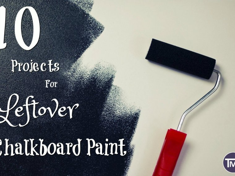 I completely overbought chalkboard paint and so, after some research, here are some of my favourite and stylish ways to use it up, plus a bonus recipe too!