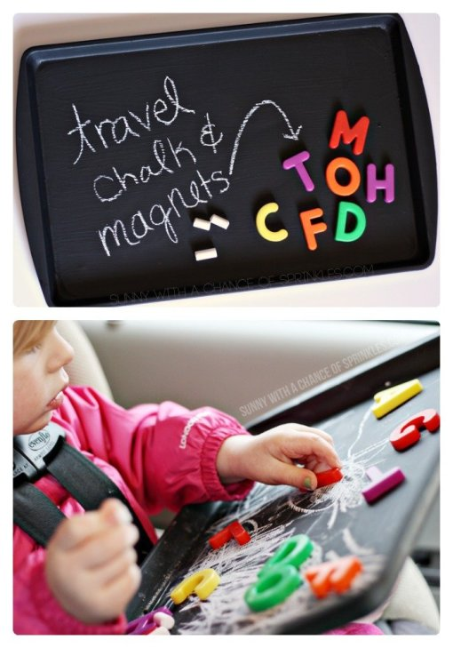 kid chalkboard travel board - 10 projects for leftover chalkboard paint