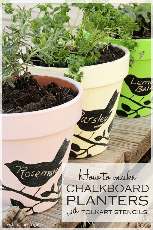 Triedandtrue - 10 projects for leftover chalkboard paint