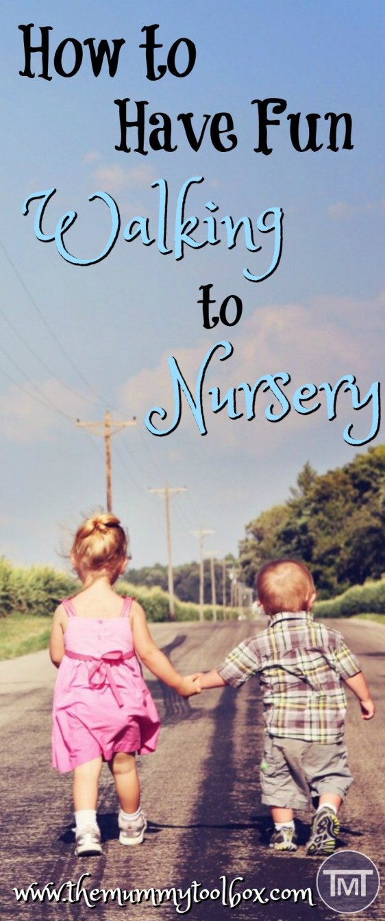 If you have to walk to nursery you are going to need some games, activities and ideas to pass them time as you walk, rain or shine to get you from A to B.