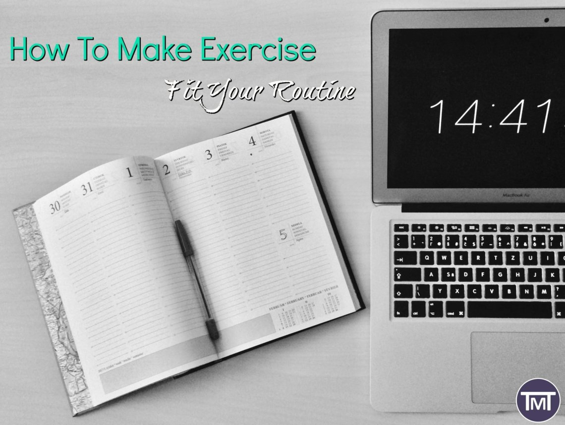 notepad calendar and laptop on desk