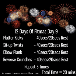 The 12 Days of Fitmas - Day 9